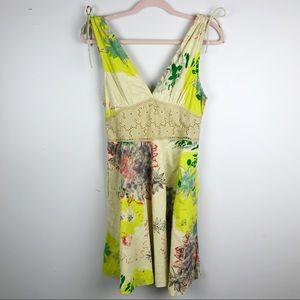 Free People V Neck Sun Dress Floral Sz 6